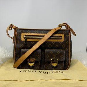 Authentic LOUIS VUITTON Monogram Hudson GM